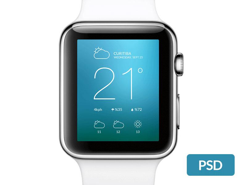 Apple Watch Free Template-PSD