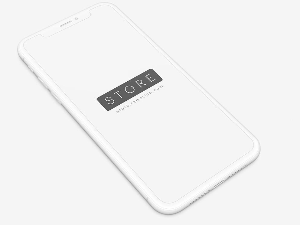 Iphone-x-Clay-White-Perspective-Free-Mockup