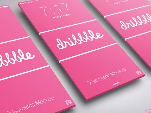 Isometric Mockup psd app