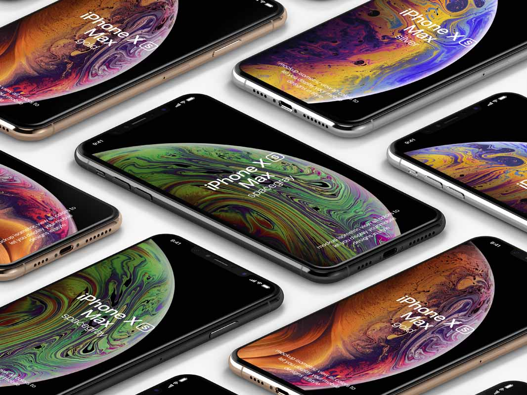 iPhone XS Max Psd Mockup